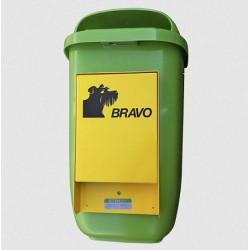 BRAVO Starter - distributeur de sachets pour crottes de chien avec réceptacle à ordures