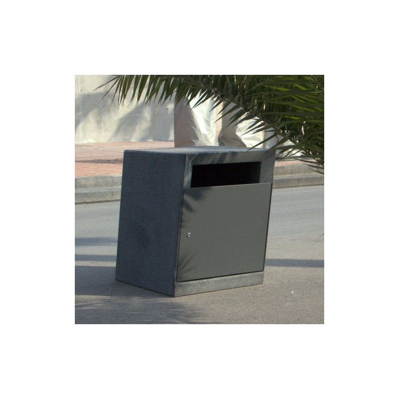 Pedra negra - Abfallbehälter aus Beton