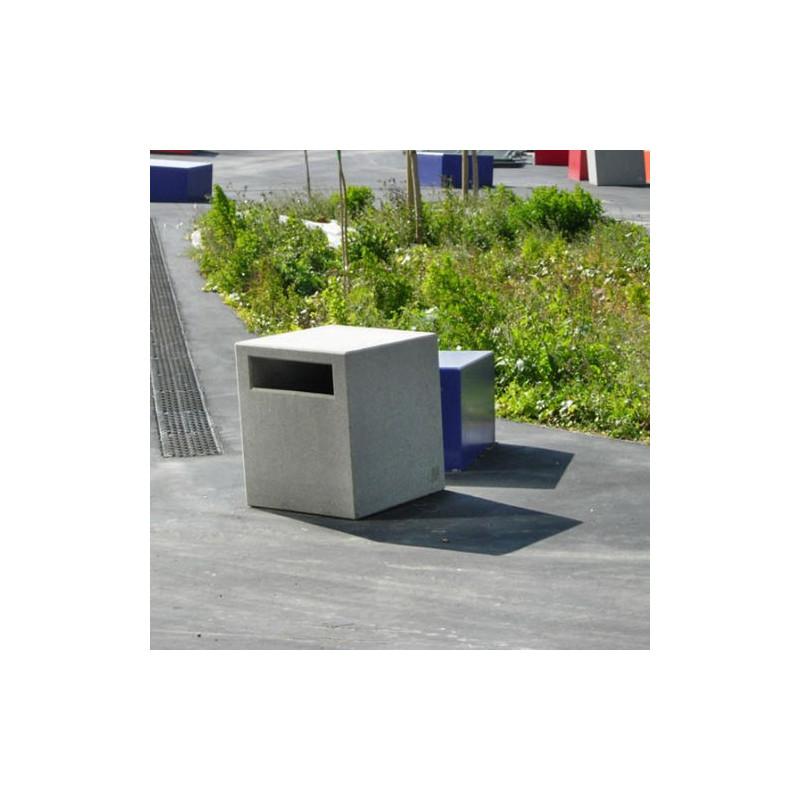 Pedreta - poubelle en béton