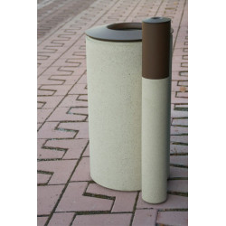 Laurel & Hardy - Abfallbehälter/Aschenbecher aus Beton/Metall