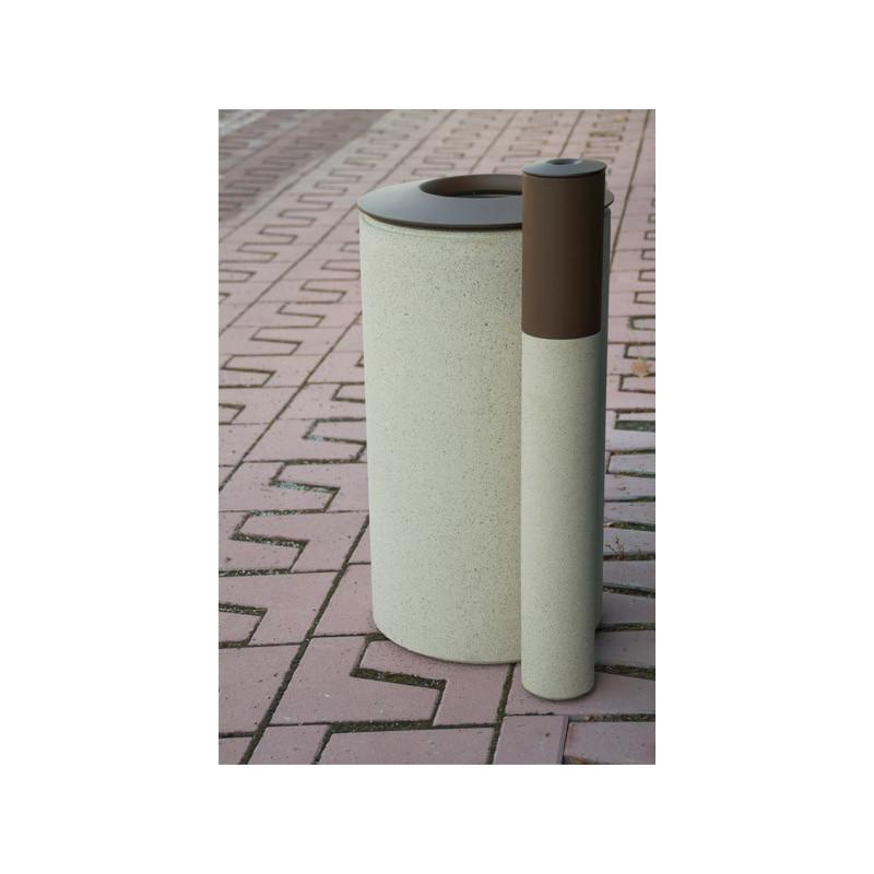Laurel & Hardy - poubelle et cendrier en béton -métal