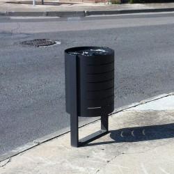 Boulevard - Abfallbehälter aus verzinktem Stahl