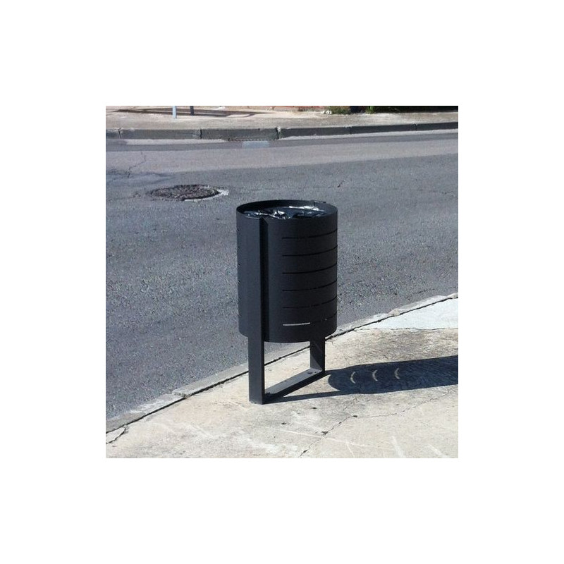 Boulevard - poubelle en acier