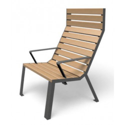 Easy - Stuhl - hohe Rückenlehne/ Armlehnen