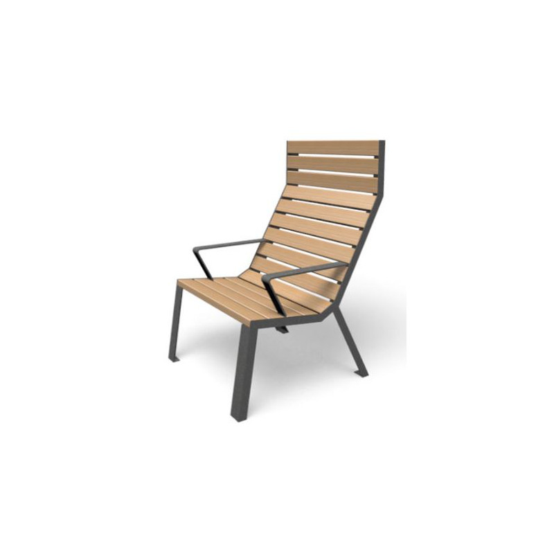 Easy - chaise - dossier haut/ accoudoirs