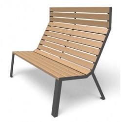 Easy - Sitzbank - hohe Rückenlehne