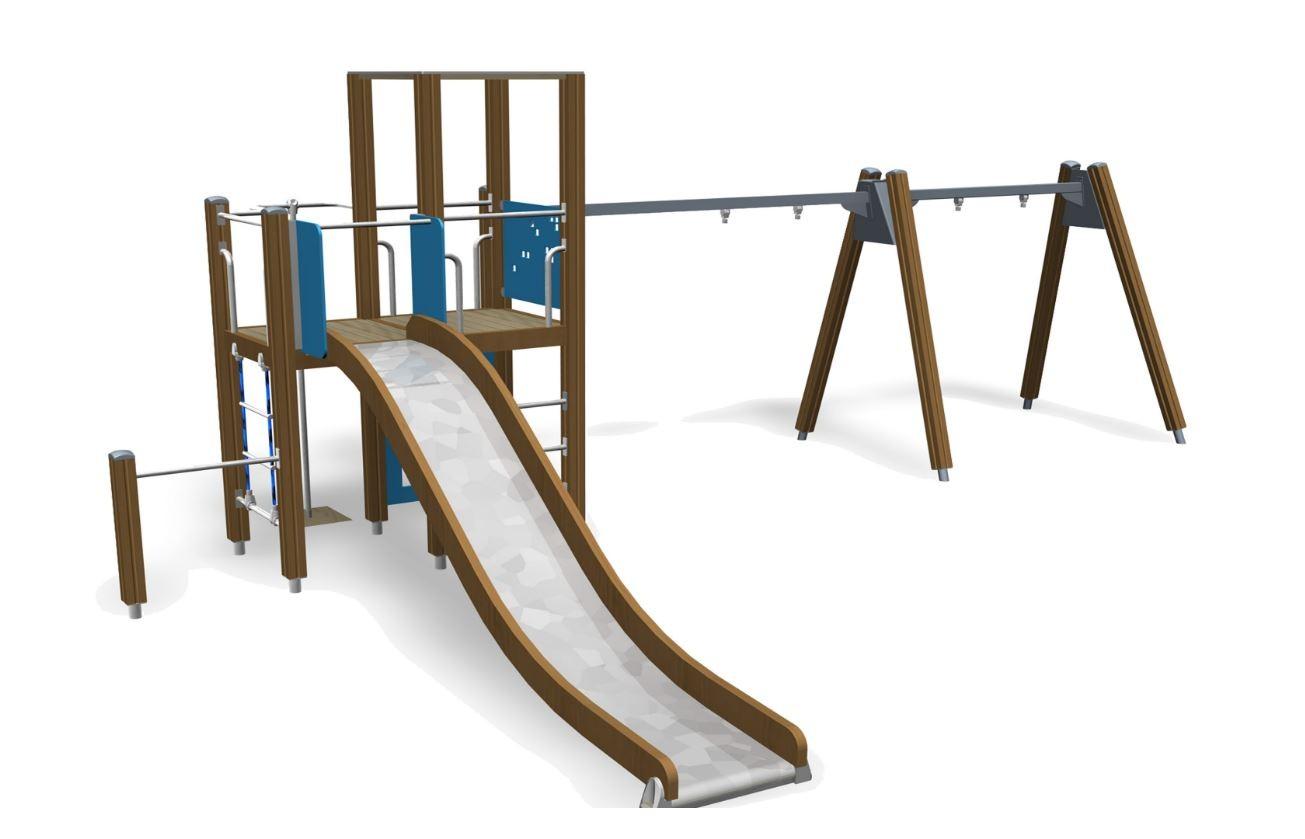 Klettergerüst Schaukel : Spielplatz rutsche klettergerüst schaukel speeltoestel