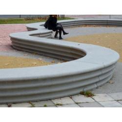 Hebi - banc/ élément paysager en béton