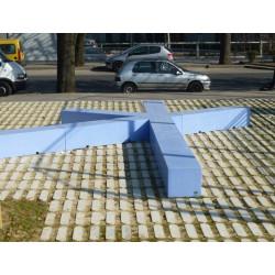 Etoile - banc/ élément paysager en béton