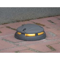 Topo LED - Borne en fonte d'aluminium avec lumière