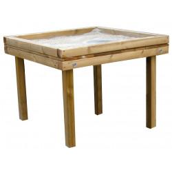 "Table de jeu ""margouillis"" en robinier/ plateau polyéthylène"