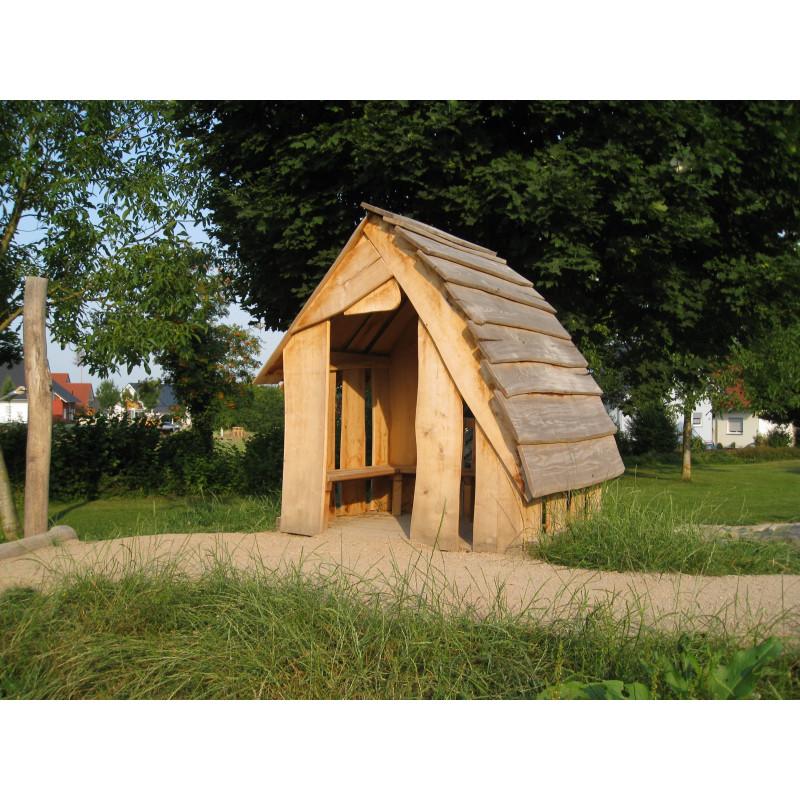 Waldhütte aus Robinienholz mit Boden