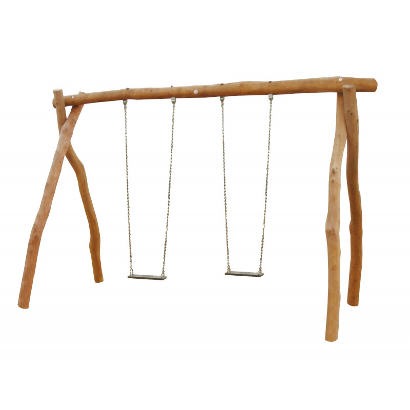 2er-Bockschaukel aus Robinienholz