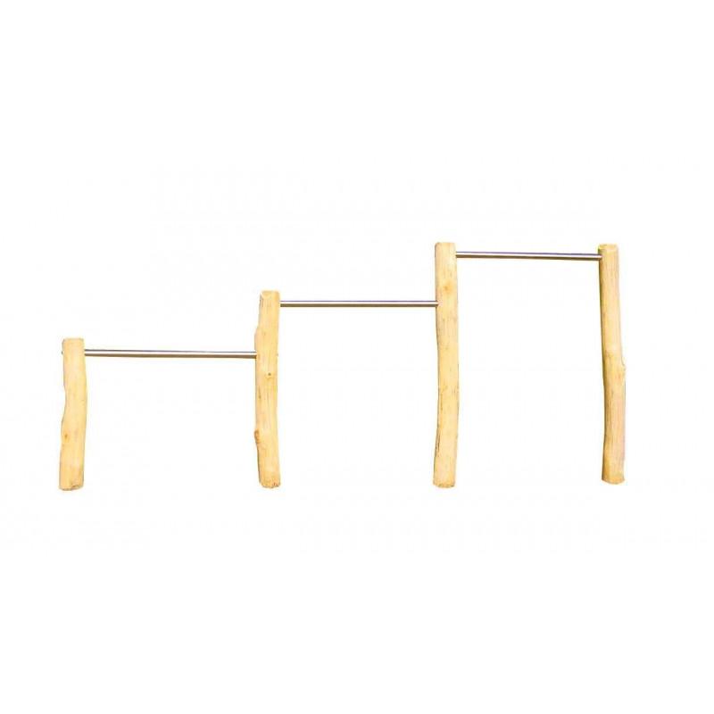 Barre fixe triple métal - robinier