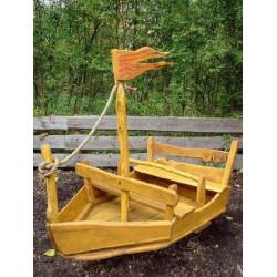 Wackelboot aus Robinienholz