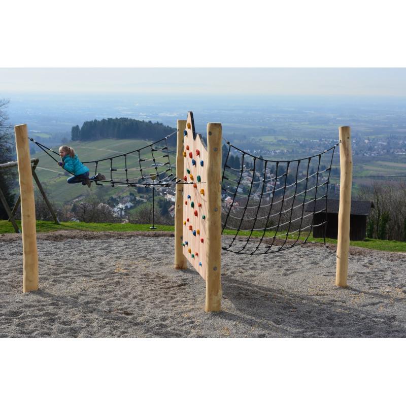 Installation de grimpe-camp du YETI - en robinier