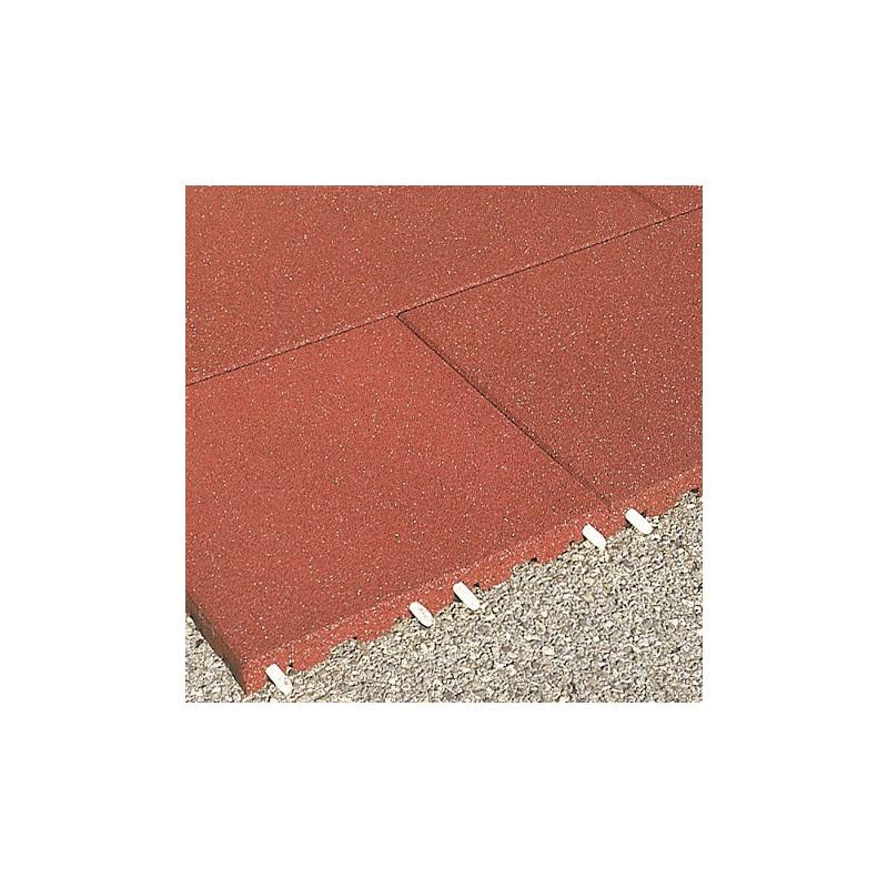 Fallschutzplatten - 7 cm/ rot