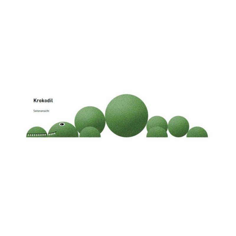 Krokodil - Spielgerät aus Gummigranulat
