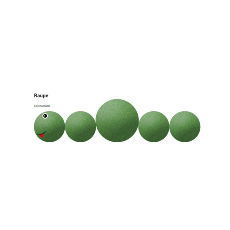 Raupe - Spielgerät aus Gummigranulat