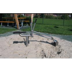 Sandbagger aus Edelstahl mit Bodenplatte