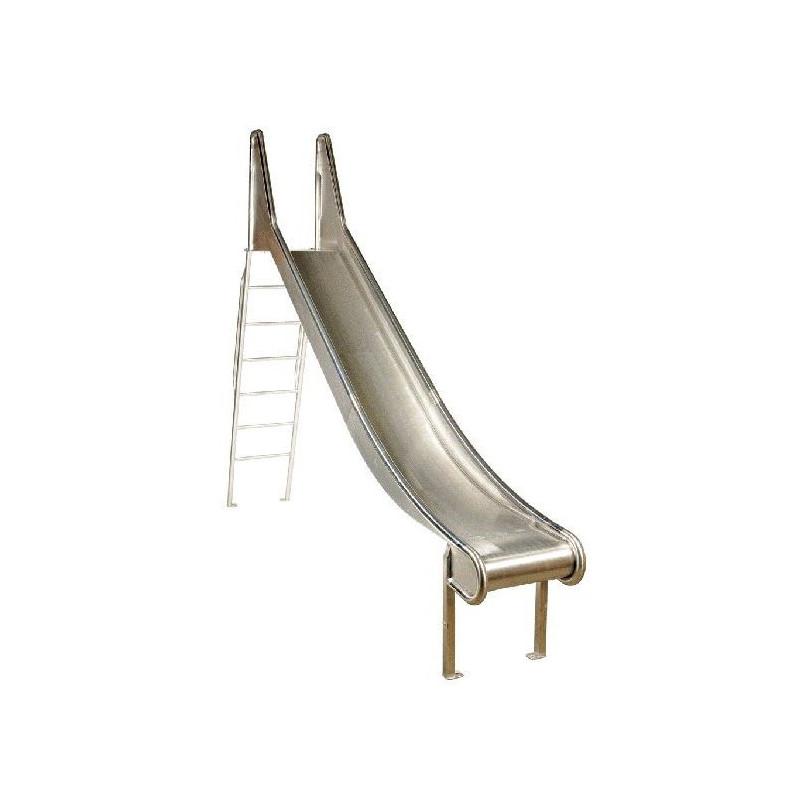 Edelstahl-Rutsche mit Leiter - 150