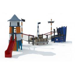 Spielanlage Schiff mit Leuchturm RFDS3
