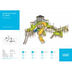 Adventure Towers - Kletteranlage mit Rutschbahn