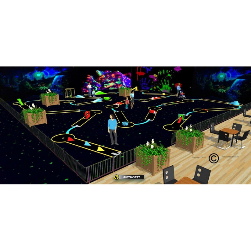 Minigolf fluorescent Indoor