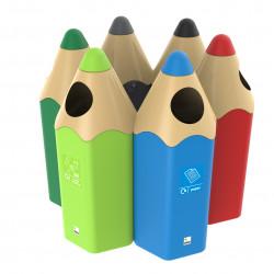 Pencil Bin - système de recyclage/corbeille