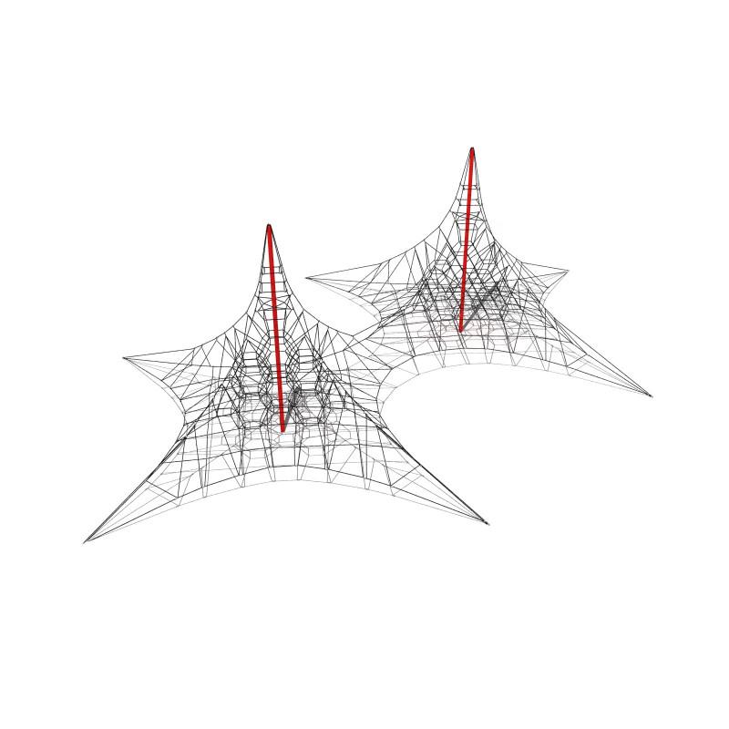 Net Climber Double Mast