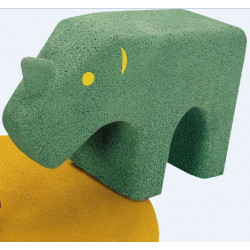 Rhinocéros - animal en granulés de caoutchouc