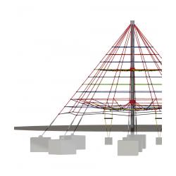 Kletterpyramide 450 DUO - Klettergerät
