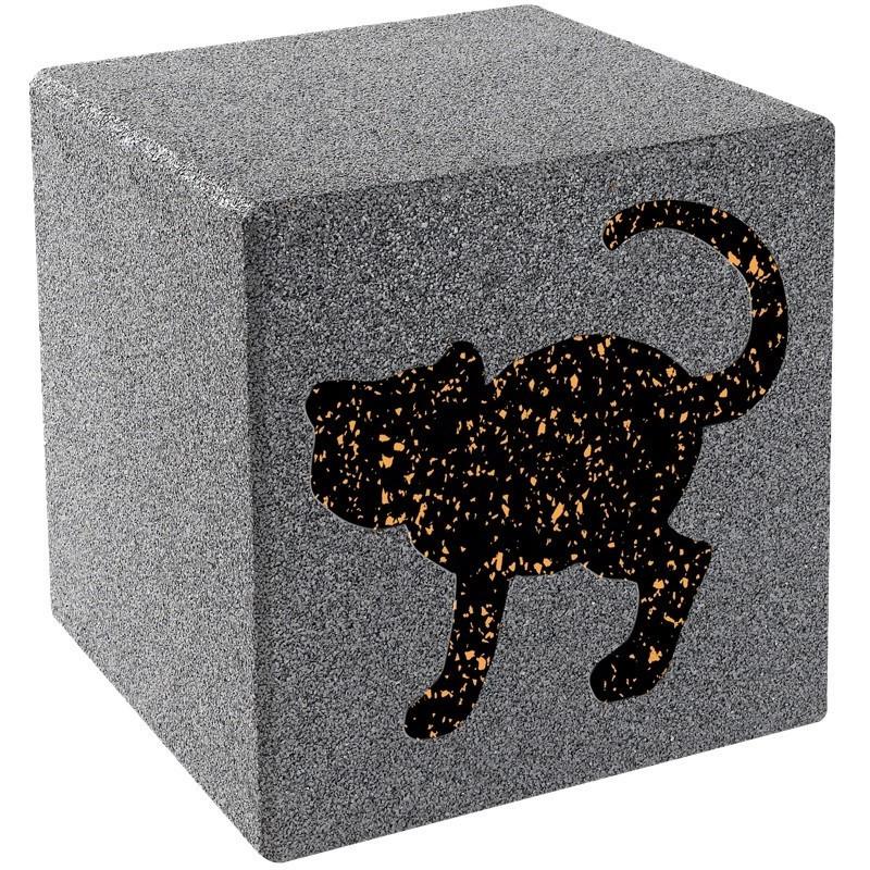 Cube avec motif - chat