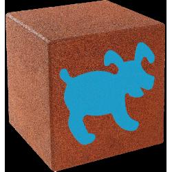 Cube avec motif - chien