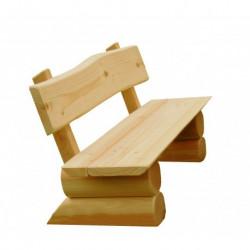 Banc en bois pour adultes - monté