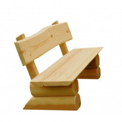 Erwachsenen-Bank aus Holz - montiert