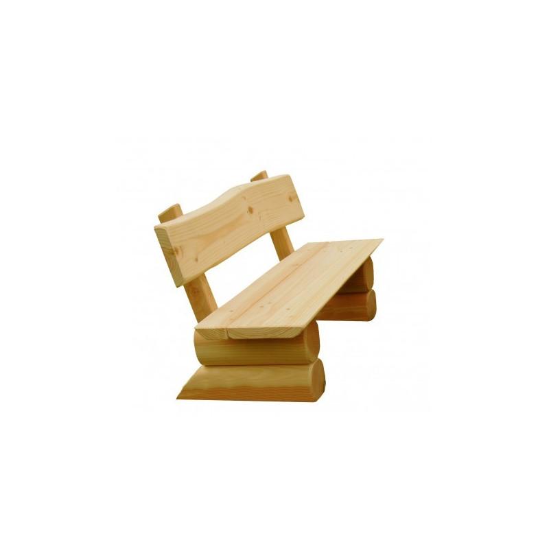 KiGa-Bank aus Holz - montiert