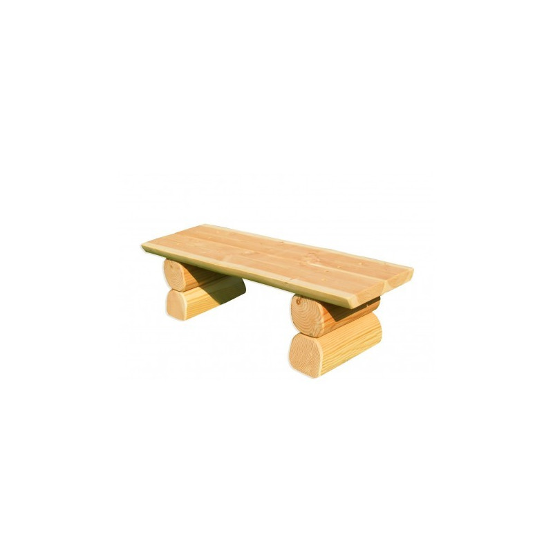 KiGa-Hockerbank aus Holz - montiert