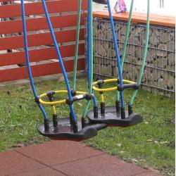 Double siège pour enfants en bas âge - mini balançoire