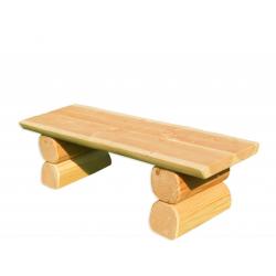 Erwachsenen-Hockerbank aus Holz - montiert