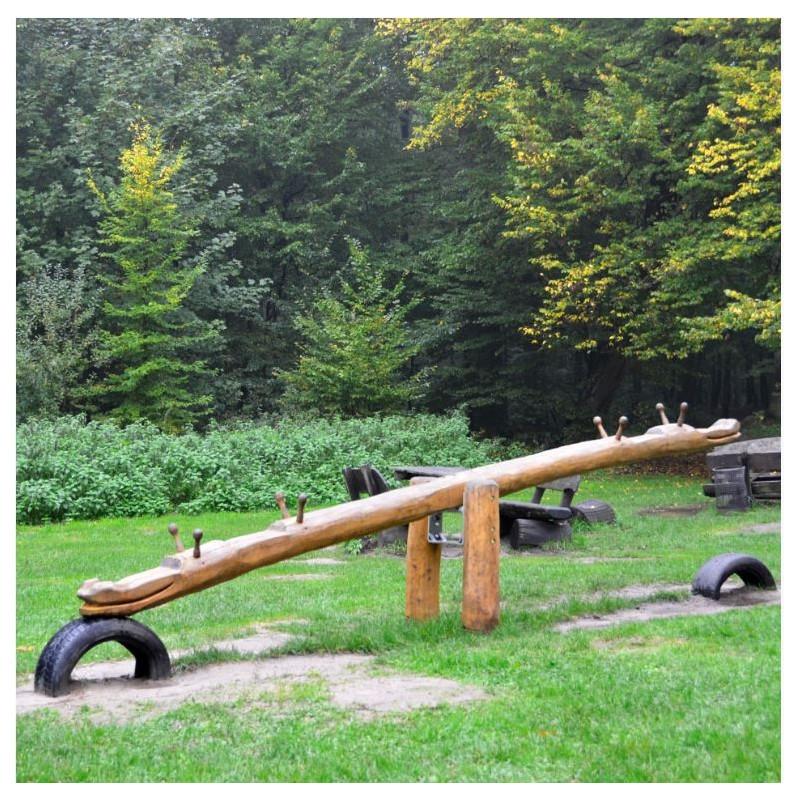 Balançoire à bascule en bois de Robinier - 4 places