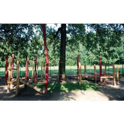"""Parcours d'équilibre """"La rotonde du singe"""" - en robinier"""