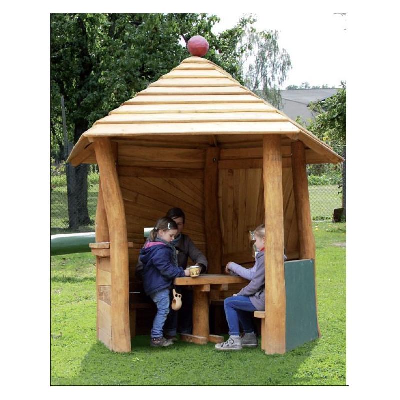 Spielpavillon - Robinienholz