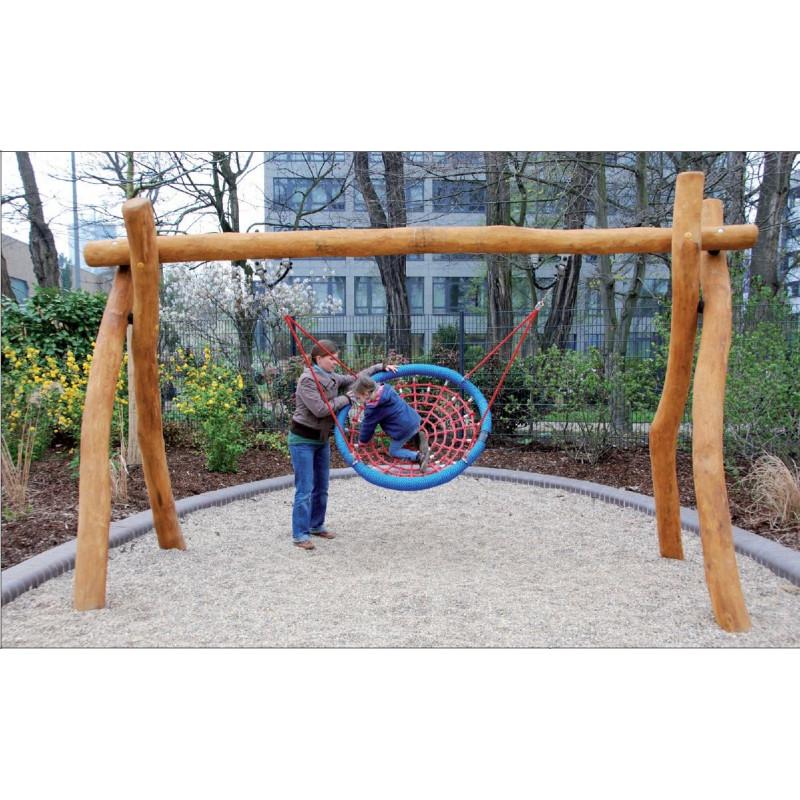 Balançoire avec nacelle -portique -robinier