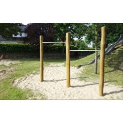 Stufenreck 2-fach - Robinienholz