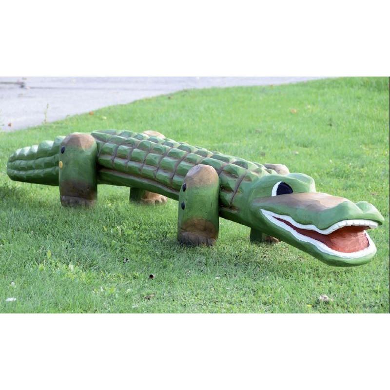 "Spielskulptur ""Krokodil"" - Robinienholz"