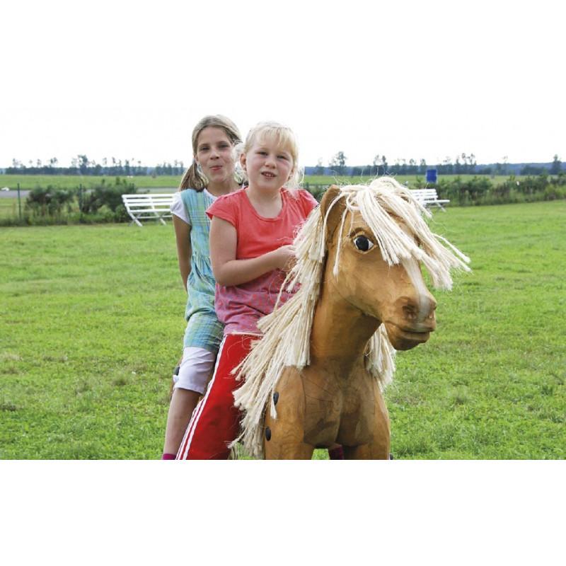 """Sculpture de jeu """"Le cheval debout"""" - robinier"""