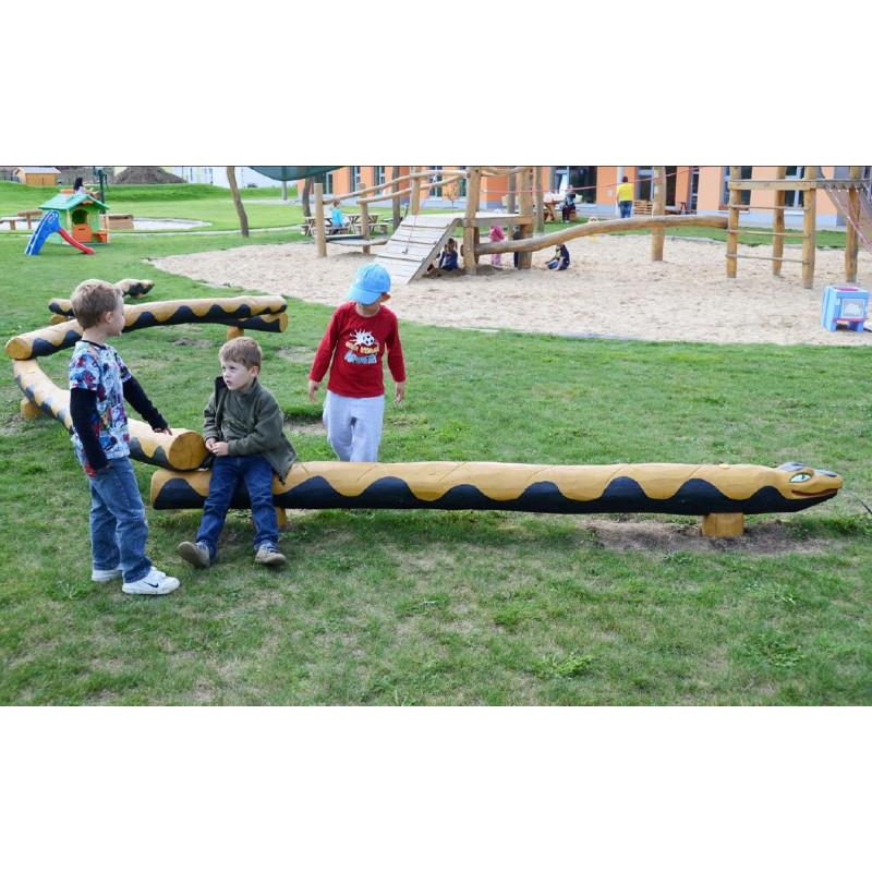 "Sculpture de jeu ""Le serpent"" - robinier SIK"