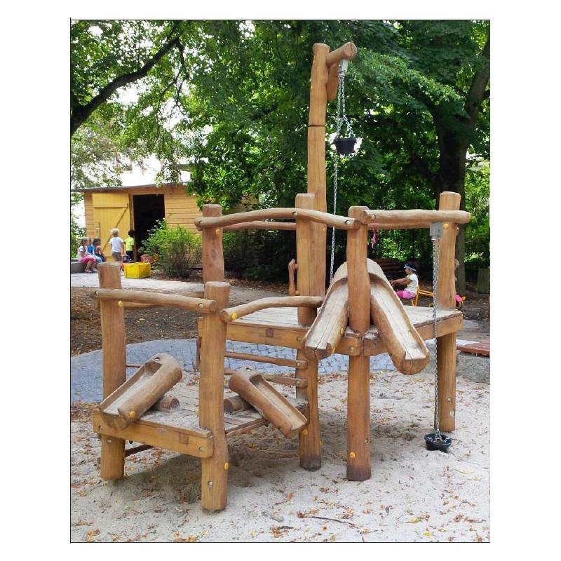 Sandbaustelle - Robinienholz