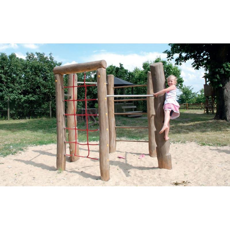 Combinaison d'escalade hexagonale en bois de robinier